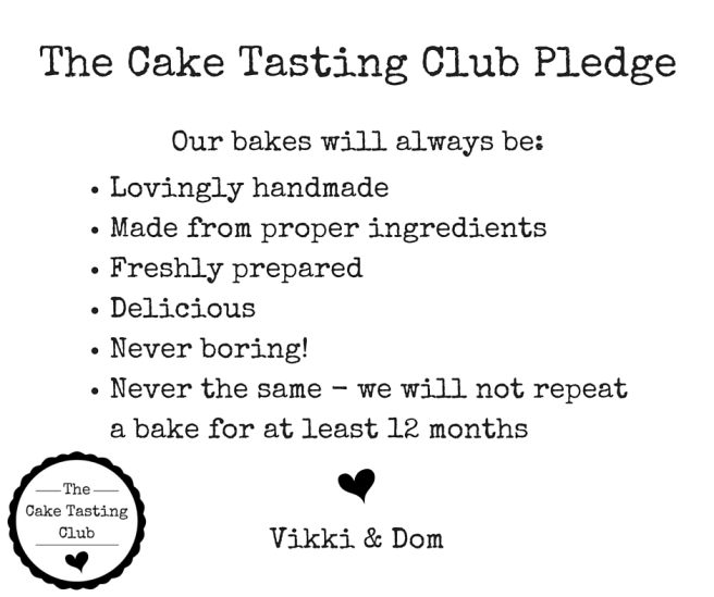 The Cake Tasting Club Pledge